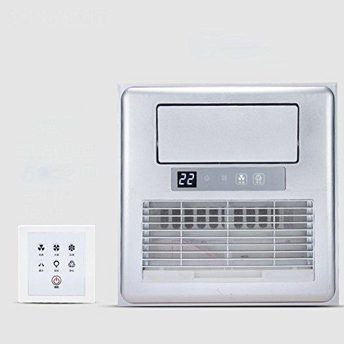 GX&XD Eingebettet Mobiles klimagerät Für Küche Toilette,Integrierte Decke Elektrischer Ventilator Mit licht Luftkühler Ventilator Mit Fernbedienung-D 12x12inch