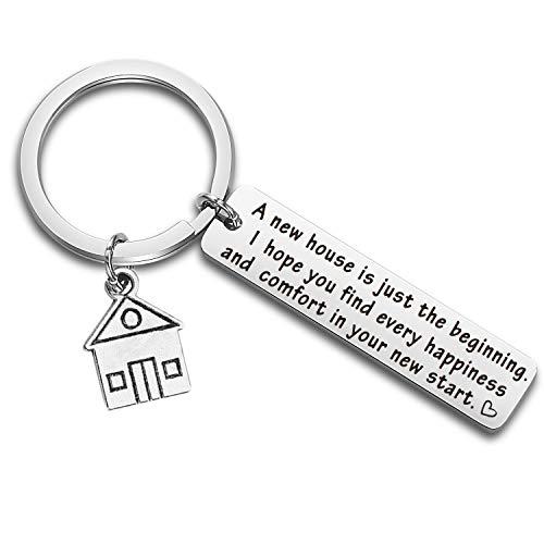 Portachiavi, idea regalo per la casa nuova, regalo per la prima casa, regalo per il proprietario di una nuova casa. e st, colore: Silver, cod. NA