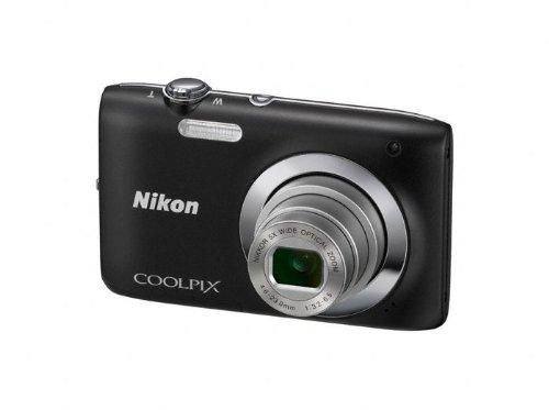 Nikon Coolpix S2600 Kompaktkamera (14 Megapixel, 2,7 Zoll Display, 5-facher optischer Zoom) Schwarz