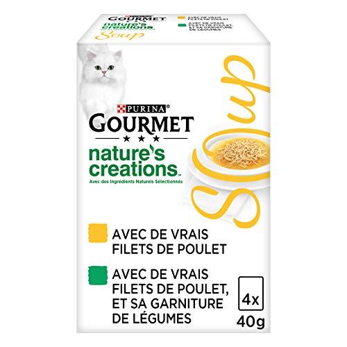 GOURMET – Soup: Redes de Pollo, Redes de Pollo – 4 x 40 g – Lote de 10