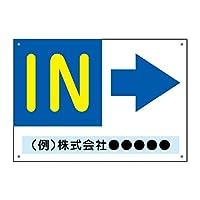 〔屋外用 看板〕右向き矢印 IN 丸ゴシック 穴あり 名入れ無料 (A2サイズ)