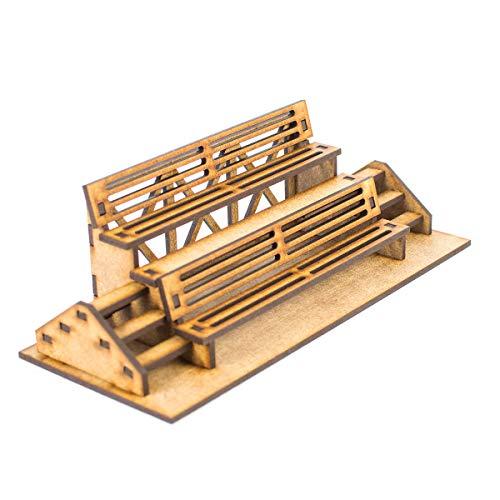 PROSCALE Tribuna pequeña maqueta 1:32 para Pistas de Slot, Kit de Madera para Montar DIY Compatible con circuitos Coches Scalextric, Ninco Slot, Scalextric Original, Carrera y ScaleAuto