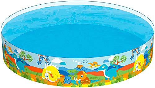 "Taylor Toy Snapset Swimming Pool for Kids | Toddler and Baby Pool | 96"" Diameter x 18"" Depth, 426 Gallon Kiddie Pool (8' Dinosaur)"