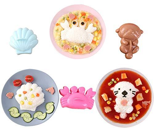 Molde para bolas de arroz de bebé con forma de animal, para...