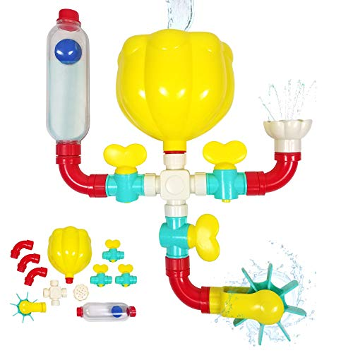 Bubble Bee Bath Toy Pipes N Valves. Stem Toys with Water Wheel, Bath Pipes,...