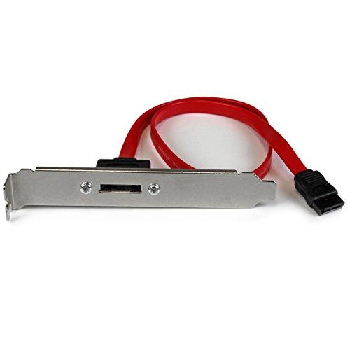 StarTech.com 18in 1 Port SATA to eSATA Plate Adapter - External SATA Plate - 6Gbps eSATA Port - Internal SATA to eSATA Adapter - 18 inch (ESATAPLT18IN)