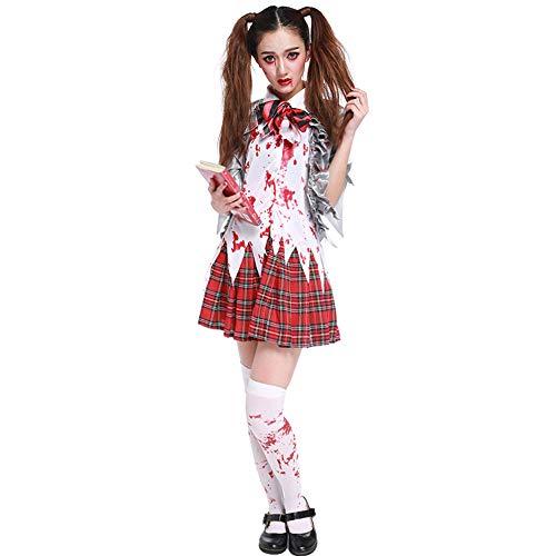 Halloween Ghost Festival Student Uniform nep tweedelig secretaris Leraar Cosplay Zombie pak M NATUURLIJK