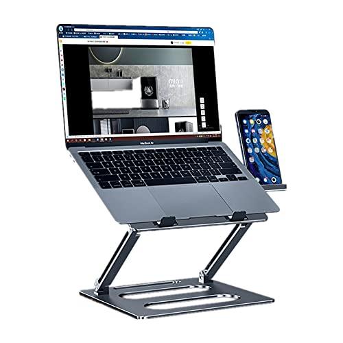 Gmjay Soporte para Computadora Portátil para Computadora Portátil Soporte para Soporte Vertical de Aleación de Aluminio Ajustable Plegable,