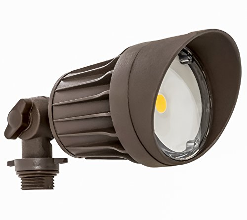 Westgate LED Flood Light - Security Light - Bronze - Die - cast Aluminum Housing - High Lumen - Waterproof IP54-120 - 227V (10W 5000K Bronze)