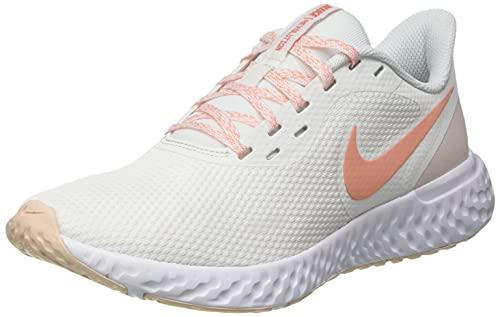 Nike Revolution 5, Zapatos para Correr Mujer, Summit White Crimson Bliss Orange Pearl, 38 EU