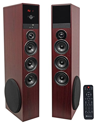 Rockville TM150C Bluetooth Home Theater Tower Speaker System (2) 10