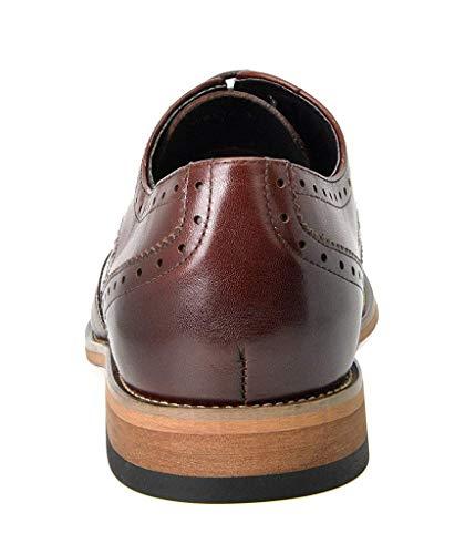 Bruno Marc Men's Waltz-3 Dark Brown Italian Genuine Leather Collection Dress Oxfords Shoes – 12 M US