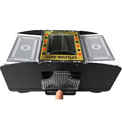 DUTUI Mescolatore di Carte da Poker Automatico, Mescolatore di Carte da 6 Mazzi Mescolatore di Carte da Poker Mescolatore Elettrico A Batteria per Club di Feste in Casa