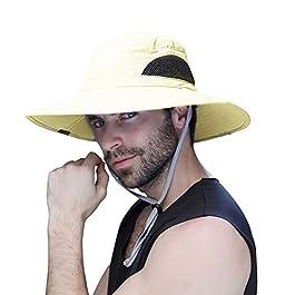 Anglerhüte Larges Bords Fischer Chapeaux Chapeau de Brousse – Protection Solaire UPF 50 + Chapeau – Adulte Unisexe…