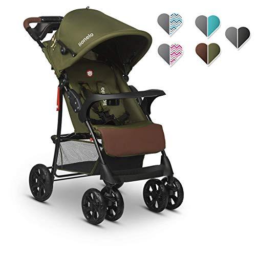 Lionelo Emma Plus kinderwagen kindersportwagen licht modern klein Buggy met ligpositie inklapbaar (Forest Green)