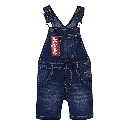 Levi's Kids Baby-Jungen Nn21004 46 Dungaree Overall, Blau (Indigo), 9-12 Monate (Herstellergröße: 12M)