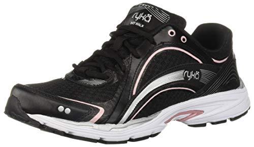 Ryka Women's Sky Walking Shoe, Black/Pink, 6.5 W US