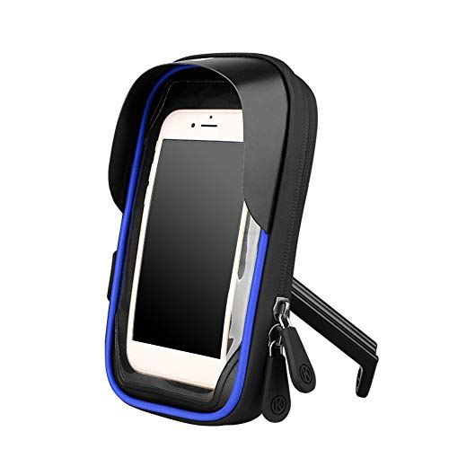 MOVKZACV Bolsa portátil para manillar de bicicleta, soporte para teléfono móvil, manos libres, pantalla táctil para teléfonos de 4,5 a 6,4 pulgadas