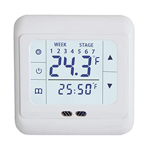 joyliveCY Touchscreen-Thermostat, automatischer Wecker-Timing, wöchentlich programmierbarer Raumtemperaturregler für Fußbodenheizung