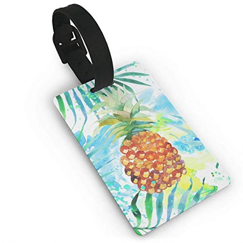 Luggage Tag Bird and Pomegranate Turtle Pixar Travel ID Label Leather for Baggage Suitcase Size 3.7 X 2.2 Inches model7071