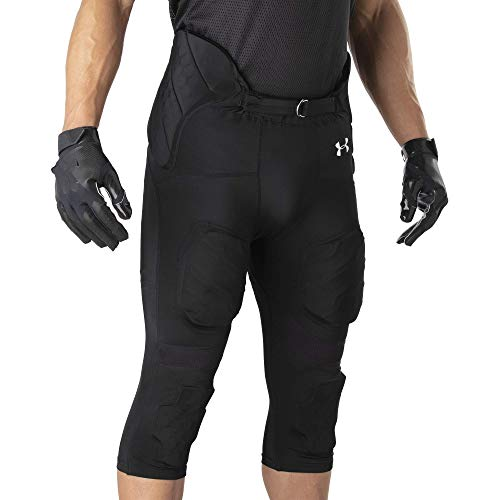 Under Armour Intergrated Football Pants, Padded Football Girdle, Gameday Football Pants, Youth & Adults sizes, BLACK, Youth - Large