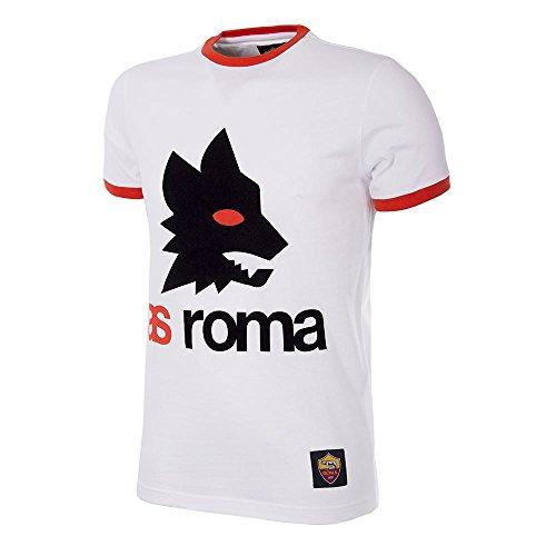 As Roma Retro Logo, Shirt Uomo, Bianco, S