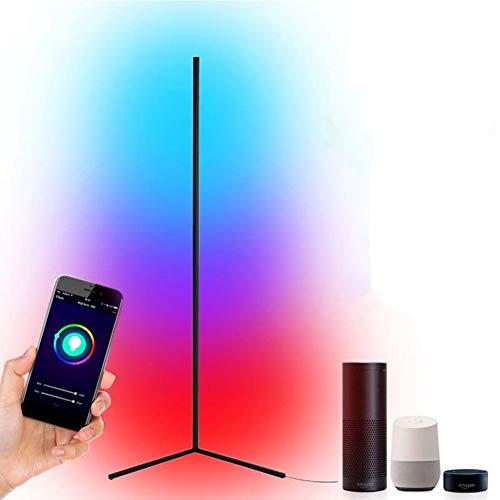 Lampada da Terra Intelligente, Lampada D'angolo Che Cambia Colore Luci D'angolo da Pavimento A LED Dimmerabili RGB Compatibile con Alexa Echo Tuya IFTTT Assistente App Smart Life, Lampade Alte da 55'