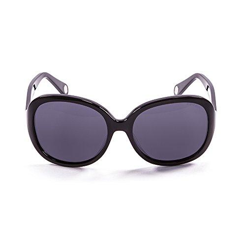 Ocean Sunglasses Elisa - Gafas de Sol polarizadas - Montura : Negro Brillante - Lentes : Azul Espejo (15300.1)