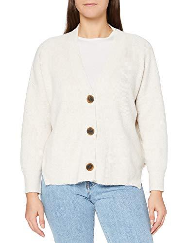 Marca Amazon - find. Stitch Cardigan - chaqueta punto Mujer, Beige (Oatmeal Oatmeal), 48, Label: 3XL