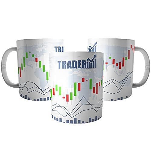 Caneca Day Trader Investidor - Candles e Gráficos de Ações