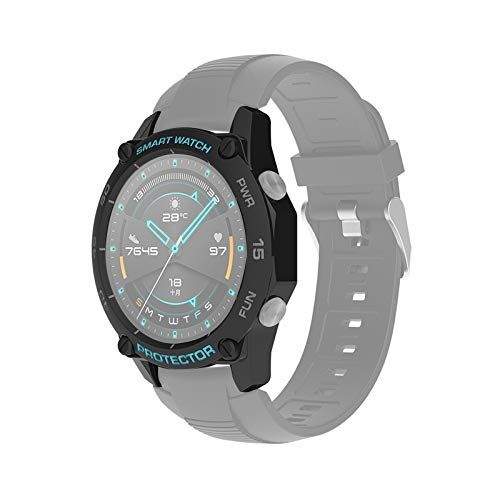 BZN Smart Watch Case per Huawei Watch GT2E 46mm Smart Watch TPU Cassa Protettiva, Colore: Nero + Grigio Blu