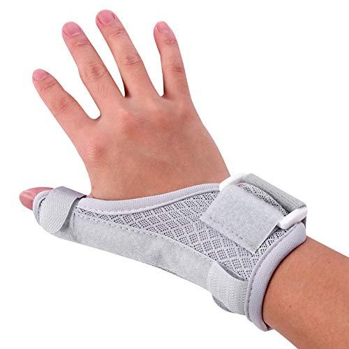 KEPEAK Finger-Armband, Verstellbare Daumenschiene für Trigger-Daumen, Elastische Daumen-Stützstrebe für Männer Frauen lindern Schmerzen/Verletzungen, Erhältlich für die Linke/Rechte Hand