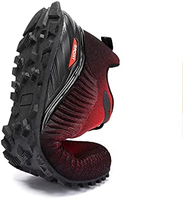 Kricely Trail Running Walking Shoes Men's Women Non Slip Road Running Hiking Tennis Sneakers Fashion Sport Athletic Workout Footwear