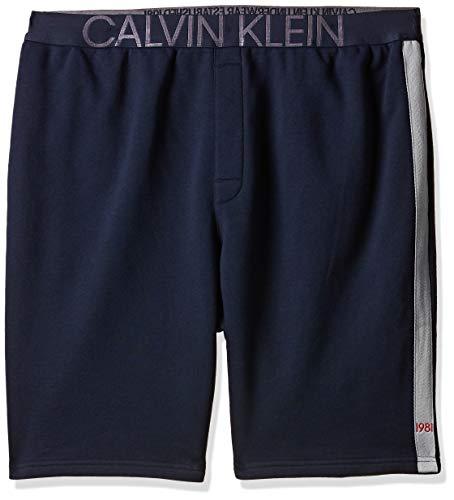Calvin Klein heren Sleep Shorts, blauw (shoreline 0Pp), W36 (fabrikantmaat: XL)