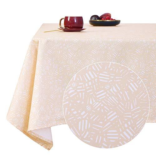 Deconovo Mantel Mesa Rectangular Decorativo Antimanchas Rectangular Cocina Festival para Fiesta 140 x 240 cm Azul