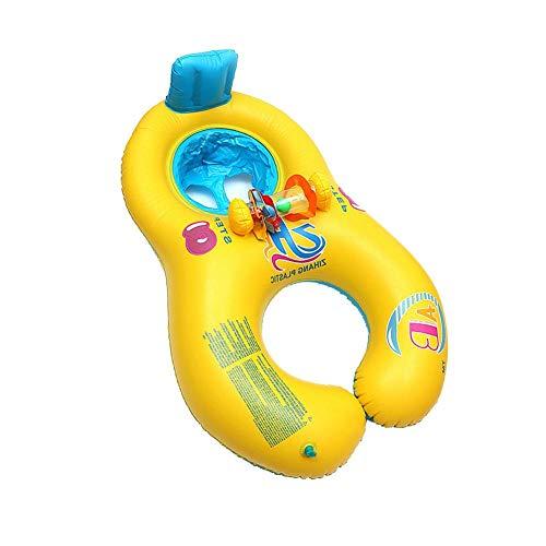 Jannyshop Eltern Kind Doppel Verdickt Aufblasbare Cartoon Rettungsring Sitz Boot Float Sicherheit Wasser Spielzeug für Baby Kind Infant