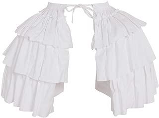 DUNHAO COS Women's White Crinoline Pannier Underskirt Victorian Dress