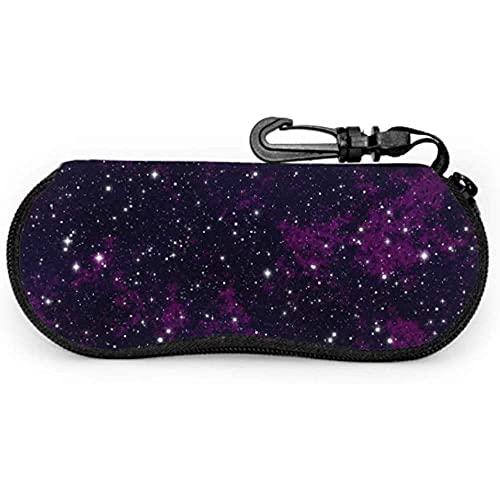 Tcerlcir Estuche para gafas Cielo nocturno Estrellas Cielo Cielo nocturno Estrellas Espacio Niños Estuche para gafas de sol Estuche suave Estuche para gafas para niñas, 17x8cm
