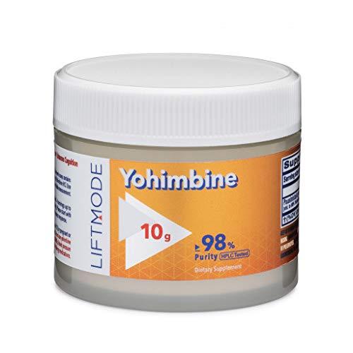 LiftMode Yohimbine HCL Powder Supplement - Fat Burner Supplement Plus Increased Energy and Libido, Yohimbe Bark Extract   Vegetarian, Vegan, Non-GMO, Gluten Free - 10 Grams (400 Servings)