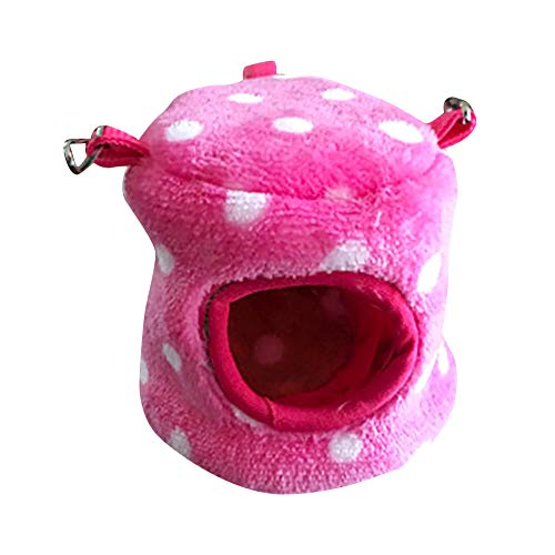 Balock Schuhe Hamster Nest,Nettes Tier Hamster Nest,Winter Warmes Niedliches Kleines Tierbett-Höhlen Nest,Anzug für Kleintiere/Ratten/Hamster/Eichhörnchen/kleine Vögel (Pink, S)