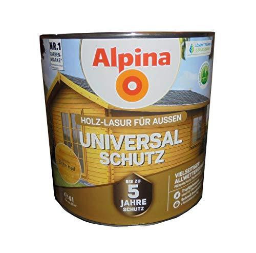 Alpina Holz-Lasur für Aussen, Unsiversalschutz, Eiche hell 4 Liter