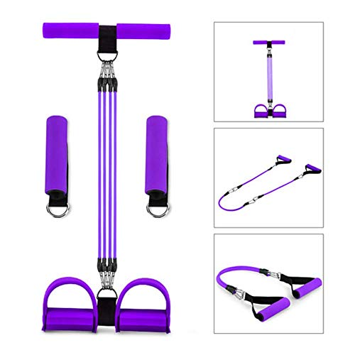 LZiioo Multifunktions-Beintrainer, Sit-up Bodybuilding Expander, Elastic Pull Rope-Trainingsgeräte, Pedal-Widerstand-Band
