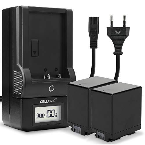 CELLONIC 2X Batería BP-745 BP-727 Compatible con Canon LEGRIA HF R806 R88 R86 R706 R77 R606 R506 R406 R36 R306 VIXIA HF R500 R400 R40 R300 R52 R50 HF M56 Cargador CG-700 Coche automóvil Cable Carga