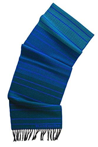 Rotfuchs écharpe tissée écharpe tendance bleu rayé 100% laine (Merino) R-708
