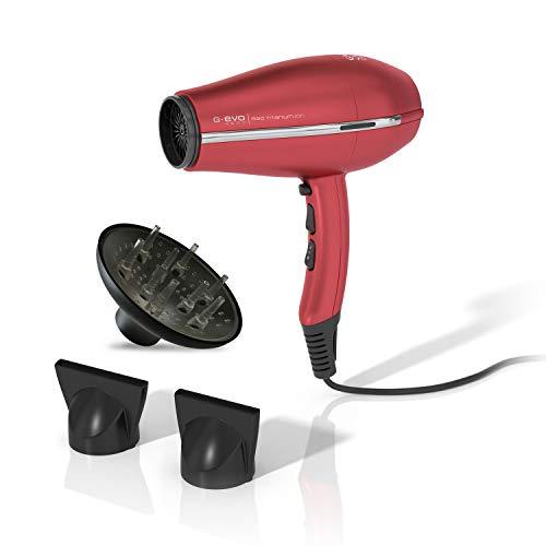 Gama Italy Professional Phon G-Evo 4500 Ion Plus, secador fabricado en Italia, tecnología Ion Plus, rojo
