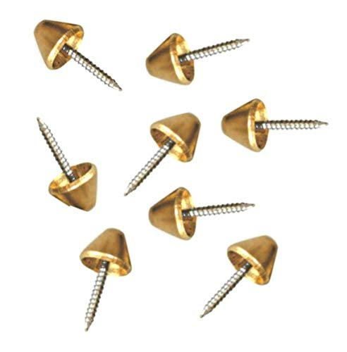 100x Premium Polsternägel 7mm | Seitenabstandstifte | Abstandnägel aus Messing mit gehärtetem Nagel | Bienen | Imker | Rähmchen | Rähmchennägel 7mm