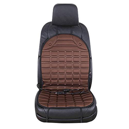 Ponacat 12v autostoel verwarmingskussen winter voertuigen stoelverwarming afdekking met High/Low-Temp-schakelaar (zwart)