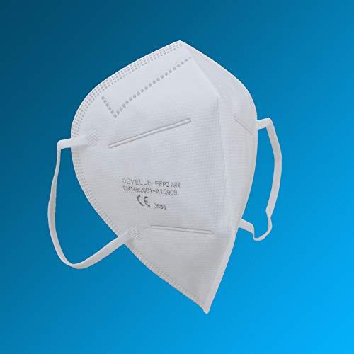 FFP2 Atemschutzmaske 20 Stück Packung einzeln Verpackt CE-Zertifizierte Atem Maske DEVELLE Schutzmaske für alle Bereiche - 8