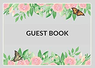 Guest Book: Colorful Floral Theme Guestbook | Perfect for all types of events and parties - Birthday, Baby Shower, Bridal ...