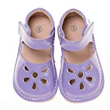 LilyPipSqueak Toddler Girl Squeaky Shoes Petal Lavender Free Stoppers (3 Toddler)
